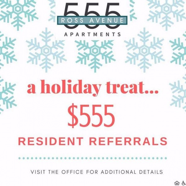 Refer and earn! May the holidays begin! #555rossave #westend
