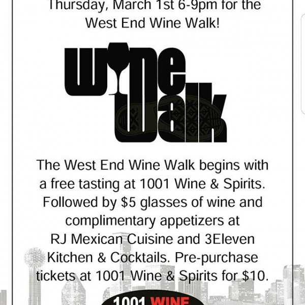 Mark your calendars for March 1st for the Wine Walk hosted by @1001wineandspirits