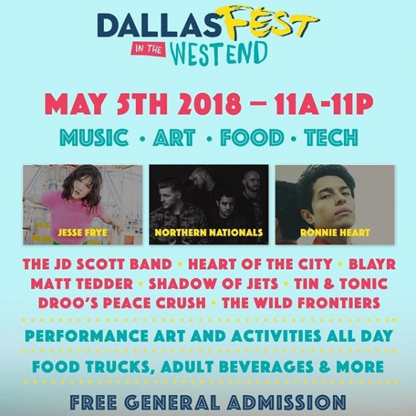 Make sure to mark your calendars for Dallas Fest! Check it out online at dallasfest.net and on IG @officialdallasfest. See you there! #555rossave #dallaswestend #dallasfest