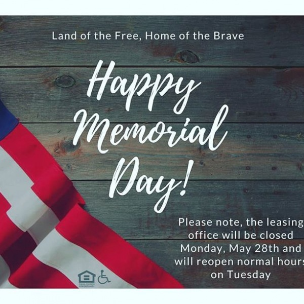 The 555 Ross Ave Leasing Office will be closed tomorrow, May 28th for Memorial Day and reopen on Tuesday, May 29th. We wish everyone a Happy Memorial Day and amazing weekend! #555rossave #dallaswestend #memorialday